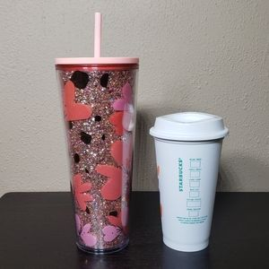 Starbucks Other - Starbucks Valentine's 24oz Tumbler and 16oz Cup